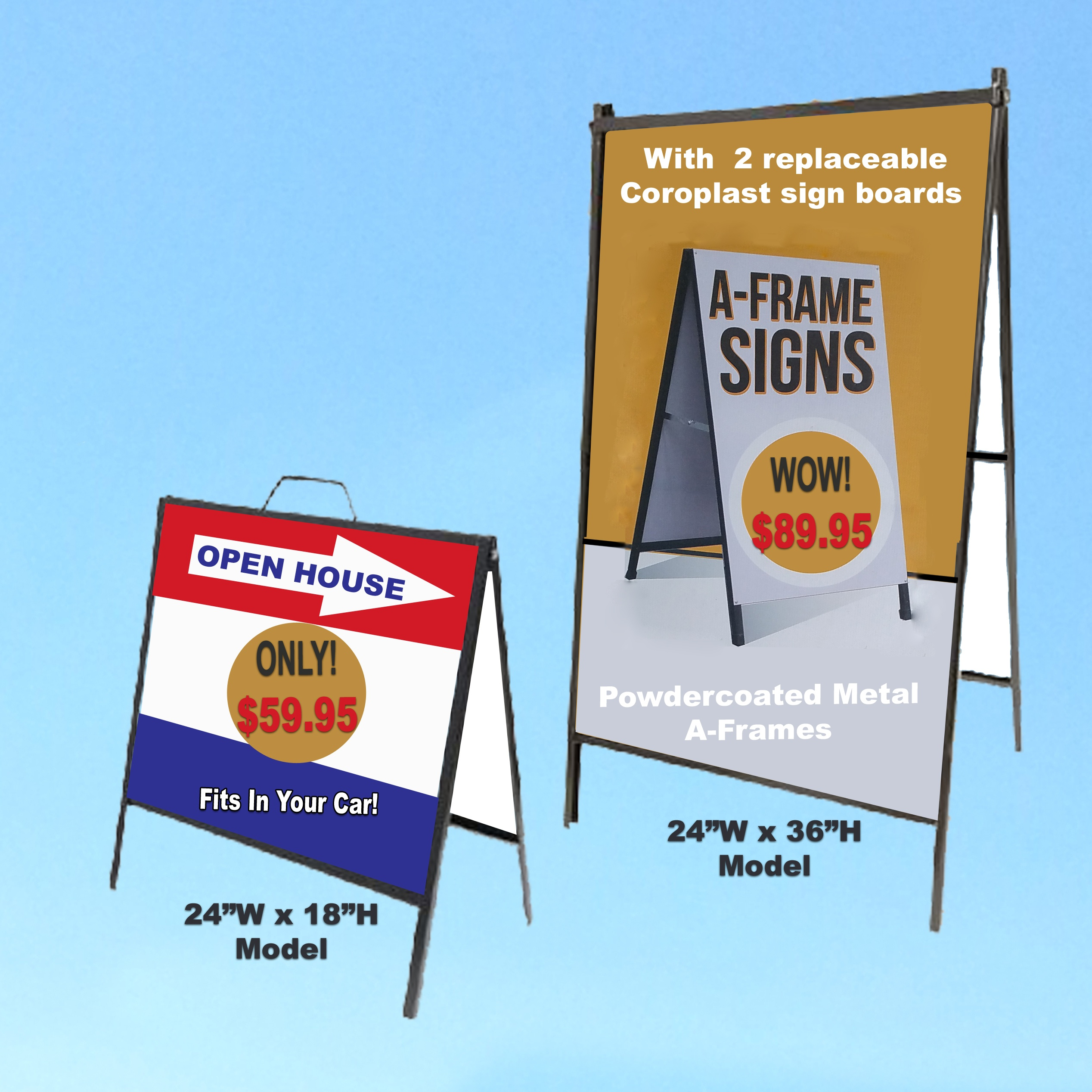 A-Frame Signs w/ Custom Full-Colour Insert | Guelph Signs