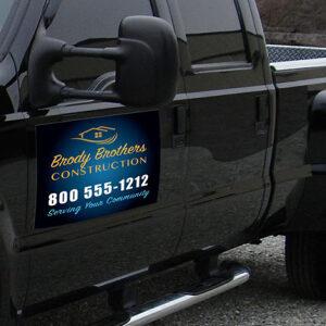 car magnet on truck