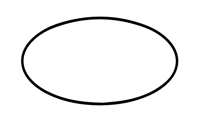 oval sign outline