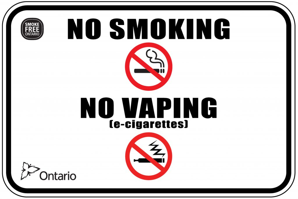 No Smoking / No Vaping - Tobacco and Electronic Cigarette Sign
